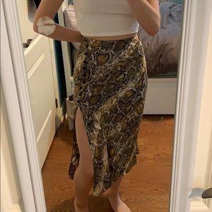 Zara Snakeskin Skirt NWT